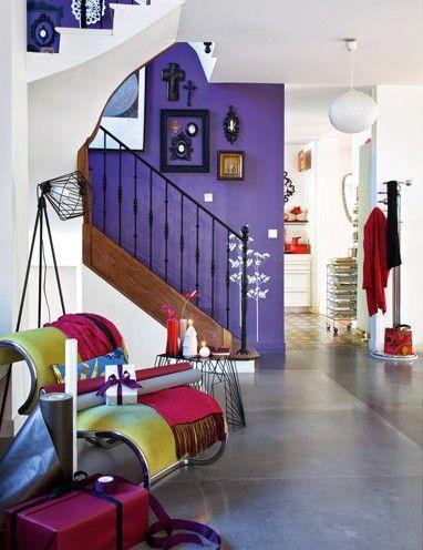 5 id es pour peindre un mur en couleur blog home for Couleur montee escalier