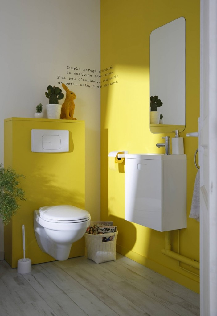 D coration des wc 5 id es originales et tendances blog home for Idee decoration toilettes