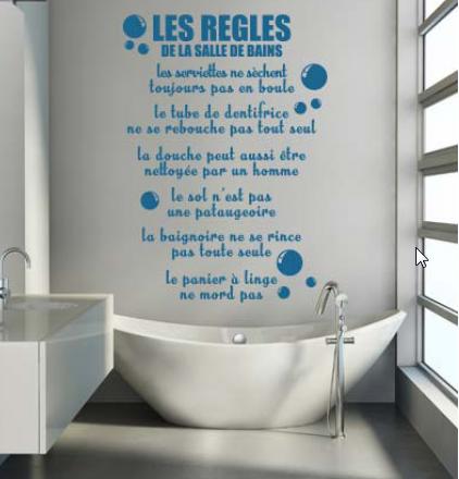 D co salle de bain stickers personnalis s for Sticker douche salle de bain
