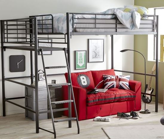 un lit mezzanine pour gagner de l espace. Black Bedroom Furniture Sets. Home Design Ideas