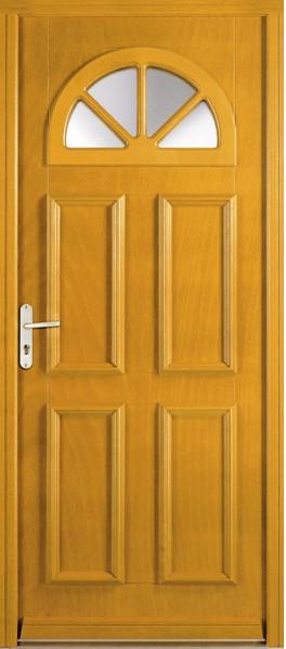 porte d'entrée en bois Zlten