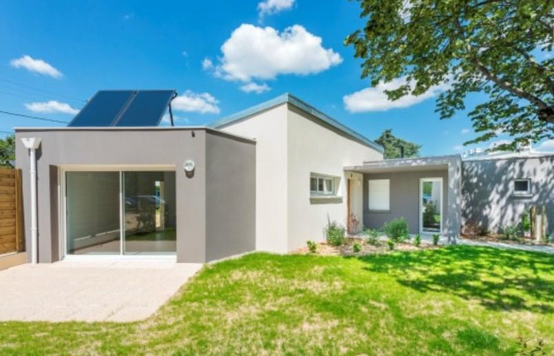maison de ville avec panneaux solaires groupe berthelot
