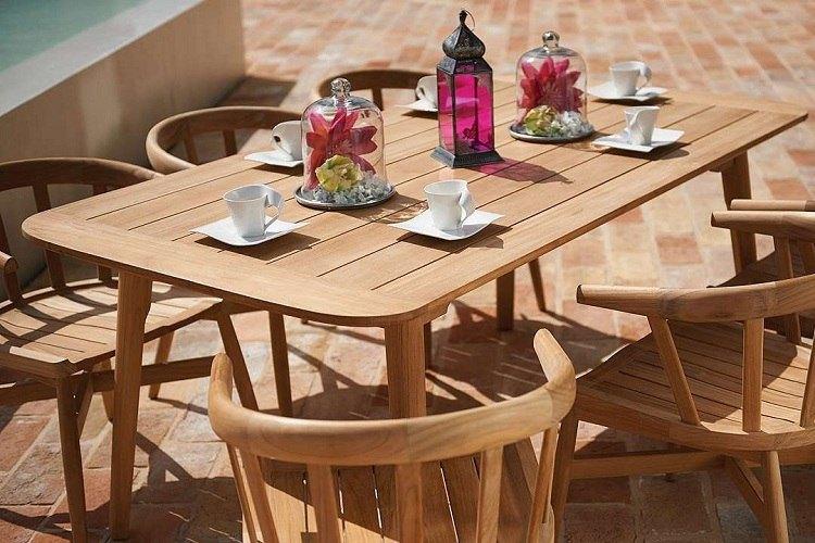 Mobilier teck - entretien meubles teck - table jardin teck