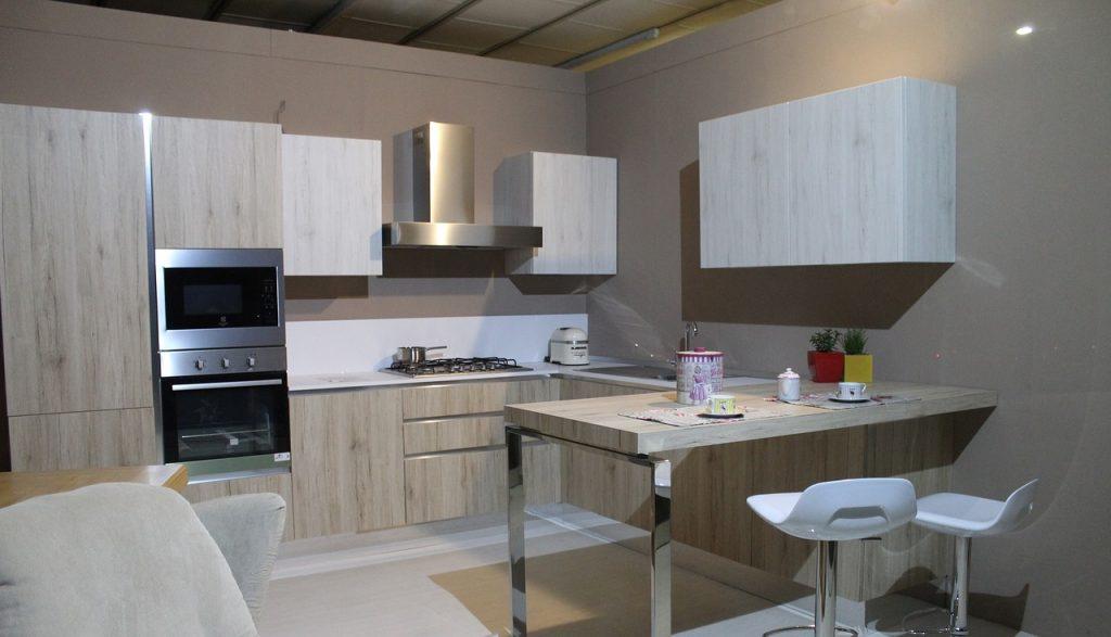 cuisine moderne avec du bois