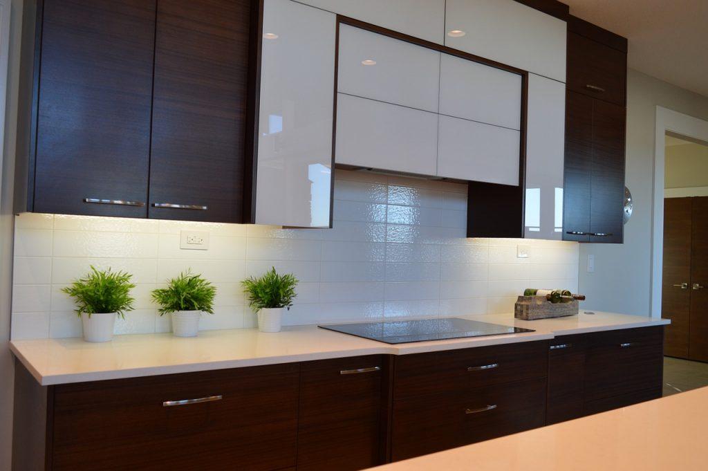 cuisine moderne blanc bois